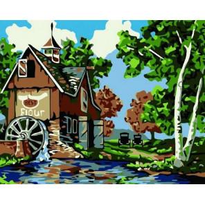 Старая мельница Раскраска картина по номерам на холсте
