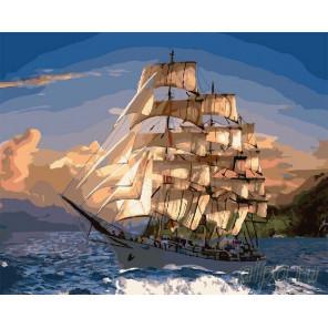 Яхта в облаках Раскраска по номерам на холсте CG903