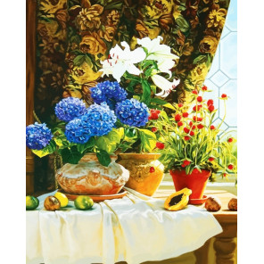 Голландский натюрморт Раскраска картина по номерам на холсте CG908