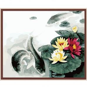 Карпы удачи Раскраска по номерам акриловыми красками на холсте Menglei
