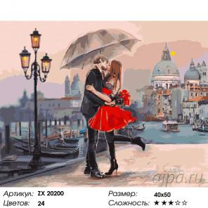 Количество цветов и сложность Венецианская страсть Раскраска картина по номерам на холсте ZX 20200