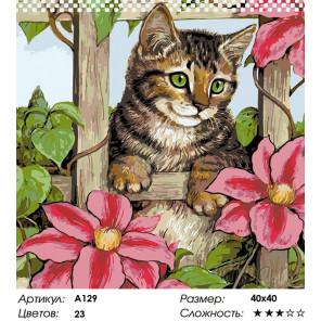 Количество цветов и сложность За цветущей оградой Раскраска картина по номерам на холсте A129