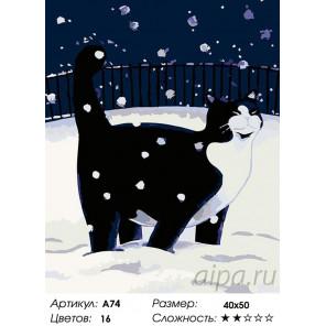 Количество цветов и сложность Прогулка по снегу Раскраска картина по номерам на холсте A74