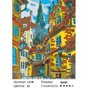 Количество цветов и сложность Старая улочка Раскраска картина по номерам на холсте LV18