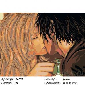 Поцелуй на прощание Раскраска картина по номерам на холсте RA020