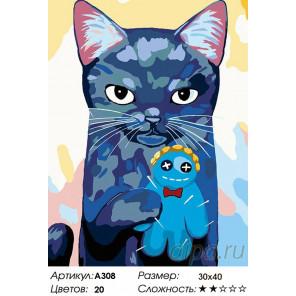 Количество цветов и сложность Любимая игрушка-человечек Раскраска картина по номерам на холсте A308