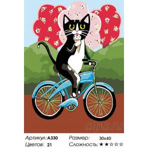 На велосипеде. Лето Раскраска картина по номерам на холсте A330