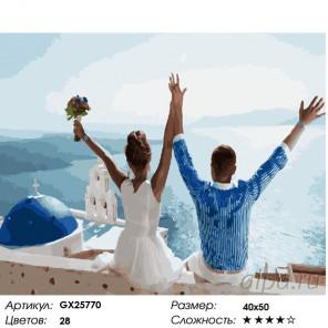 Количество цветов и сложность Счастливые Раскраска картина по номерам на холсте GX25770
