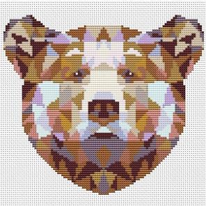 Пример оформления в рамку Медведь Набор для вышивания KR-011