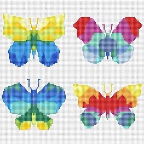 Пример оформления в рамку Бабочки Набор для вышивания KR-013