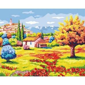 Греция Раскраска по номерам акриловыми красками на холсте Iteso