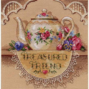Кружевной чайник 06904 Набор для вышивания Dimensions ( Дименшенс )