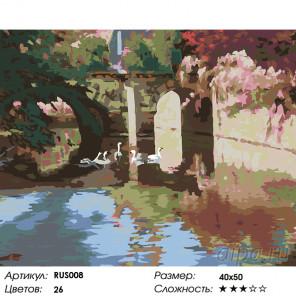 Летнее размышление (художник Марк Ариан) Раскраска по номерам акриловыми красками на холсте Живопись по номерам