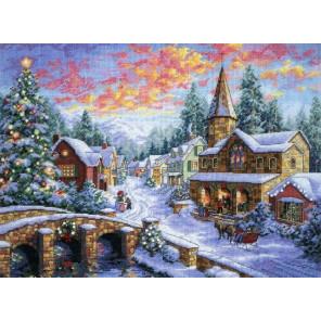 Праздничная деревня 08783 Набор для вышивания Dimensions ( Дименшенс )