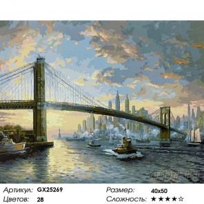 Количество цветов и сложность Дух Нью-Йорка Раскраска по номерам на холсте GX25269