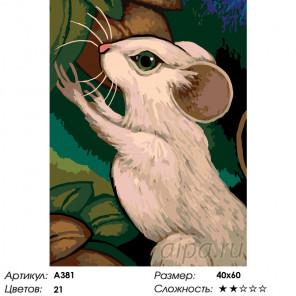 Количество цветов и сложность Белая мышь Раскраска по номерам на холсте Живопись по номерам A381