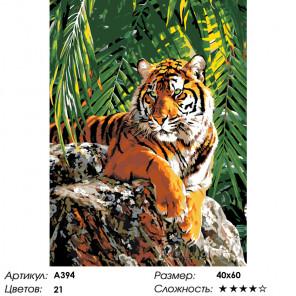 В тени пальмы Раскраска по номерам на холсте Живопись по номерам A394