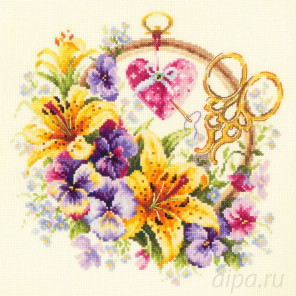 Лилии для рукодельницы Набор для вышивания Чудесная игла 100-121