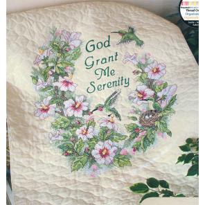 Одеяльце Цветы и колибри 03232 Набор для вышивания Dimensions ( Дименшенс )