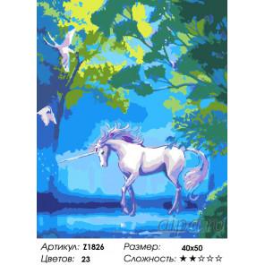 Количество цветов и сложность Лес единорога Раскраска по номерам на холсте Живопись по номерам Z1826