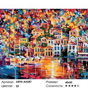 Количество цветов и сложность Краски прибрежного города Раскраска по номерам на холсте Живопись по номерам ARTH-AH247