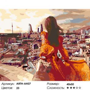 Количество цветов и сложность Закат над городом Раскраска по номерам на холсте Живопись по номерам ARTH-AH37