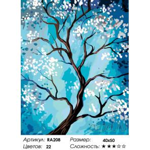 Цветущая яблоня Раскраска по номерам на холсте Живопись по номерам RA208