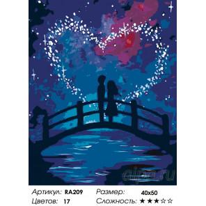 Количество цветов и сложность Магия любви Раскраска по номерам на холсте Живопись по номерам RA209