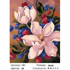 Количество цветов и сложность Цветы шиповника Раскраска по номерам на холсте Живопись по номерам F51