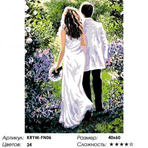 Количество цветов и сложность Молодожены Раскраска по номерам на холсте Живопись по номерам KRYM-FN06