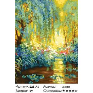 Количество цветов и сложность Майское утро в Живерни Раскраска картина по номерам на холсте Белоснежка 223-AS