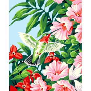 Колибри Раскраска по номерам акриловыми красками на холсте Iteso
