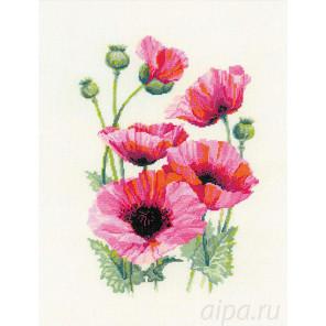 Розовые маки Набор для вышивания Риолис 1775
