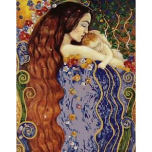 Любовь матери Канва с рисунком для вышивки бисером Конек 8477