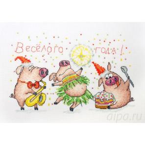 Веселый праздник Набор для вышивания Марья Искусница 01.033.30