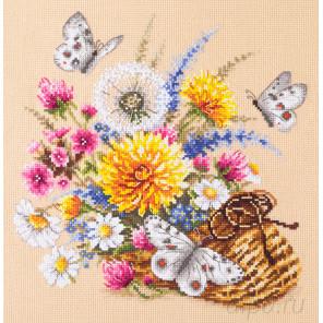 Луговые цветы Набор для вышивания Чудесная игла 40-81