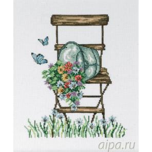 Стул с цветами Набор для вышивания Permin 92-8104