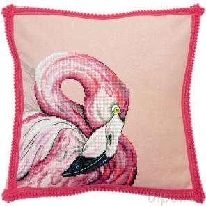 Состав набора Фламинго Набор для вышивания наволочки Марья Искусница 14.001.28