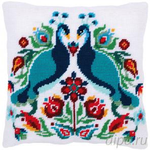 В рамке Павлины Набор для вышивания подушки Vervaco PN-0167708