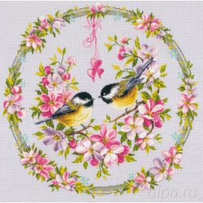 Синицы на цветочном венке Набор для вышивания Vervaco PN-0169582
