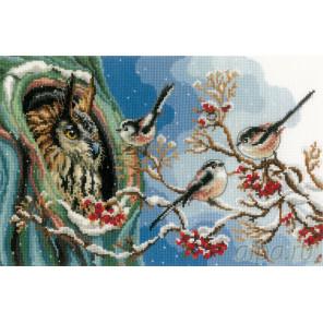 Сова и синицы Набор для вышивания Vervaco PN-0157405