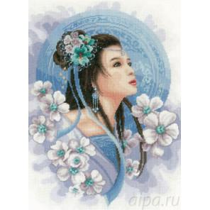 Asian lady in blue Набор для вышивания LanArte PN-0169168