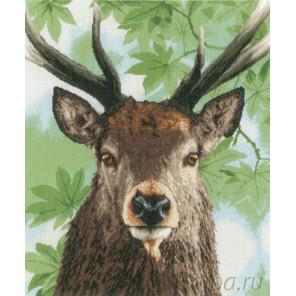 В рамке Proud red deer Набор для вышивания LanArte PN-0168208
