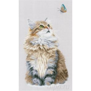 Forest cat Набор для вышивания LanArte PN-0171041