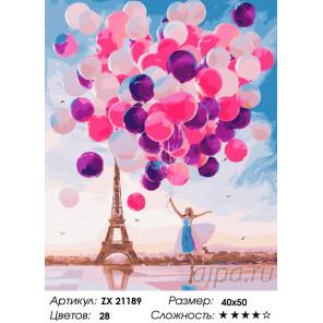Количество цветов и сложность Цветные шары Раскраска картина по номерам на холсте ZX 21189