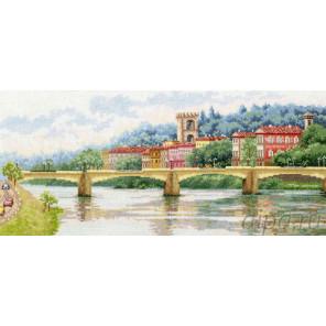 Мост Понте-алле-Грацие. Флоренция Набор для вышивания Золотое Руно ДЛ-037
