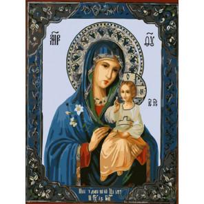 Богородица Неувядаемый Цвет Раскраска картина по номерам на холсте EX5823