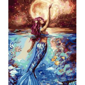 Русалка в ночи Раскраска картина по номерам на холсте GX24508