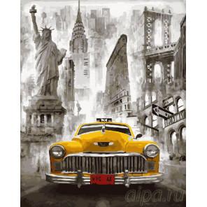 Желтое такси Нью-Йорка Раскраска картина по номерам на холсте GX23370