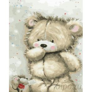 Игрушечный мишка Раскраска картина по номерам на холсте GX23236